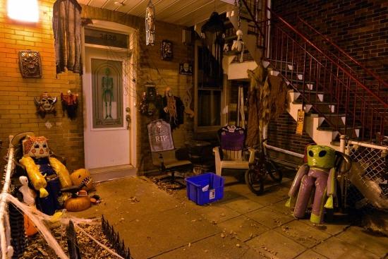 Halloween, Montreal, Pointe Saint-Charles, rue de Coleraine 2012-10-23