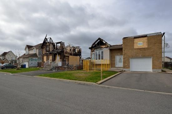 Vaudreuil-Dorion, улица Crocus, сгоревший дом 2012 - 2
