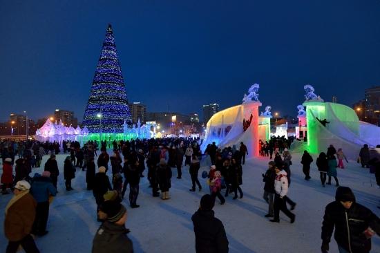 Ледяной городок, Пермь 6 января 2013 - 1