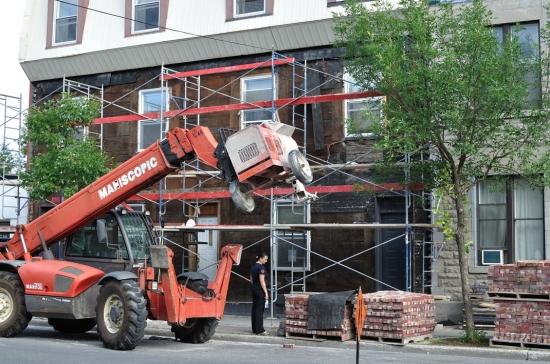 Деревянный кирпичный дом в Монреале 2013-02-27 - 16