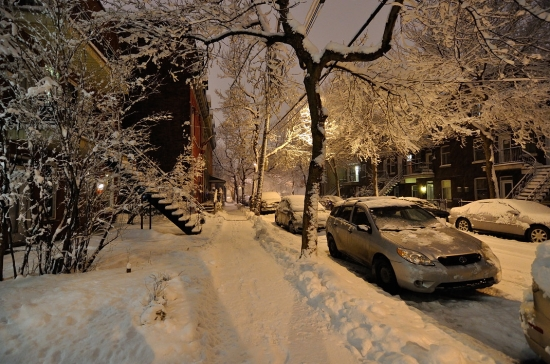 Зима, Монреаль