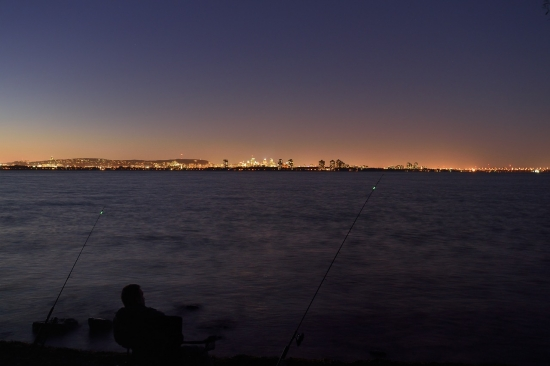 Montreal, sunsetб fishing