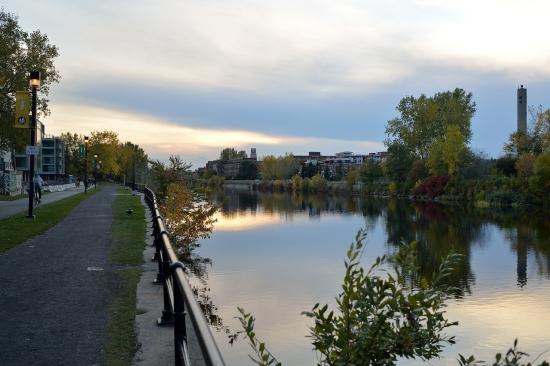 Монреаль, осень, канал Лашин