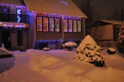 Дом, снег скоро Рождество 12 дек 2009