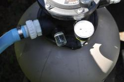 Чистая вода в фильтре