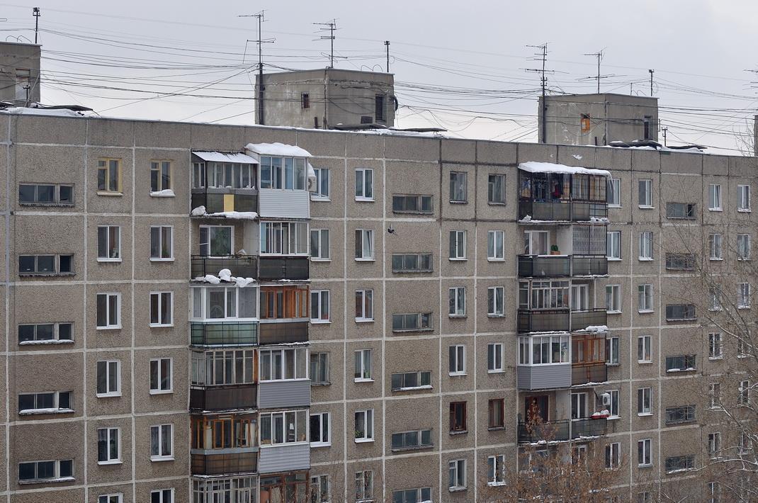 Вид многоэтажного дома фото