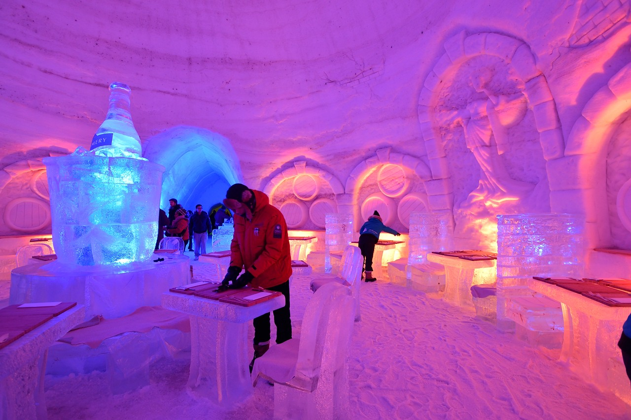 Fête des neiges de Montréal au Parc Jean-Drapeau, Snow Village 2013-01-20 - 21