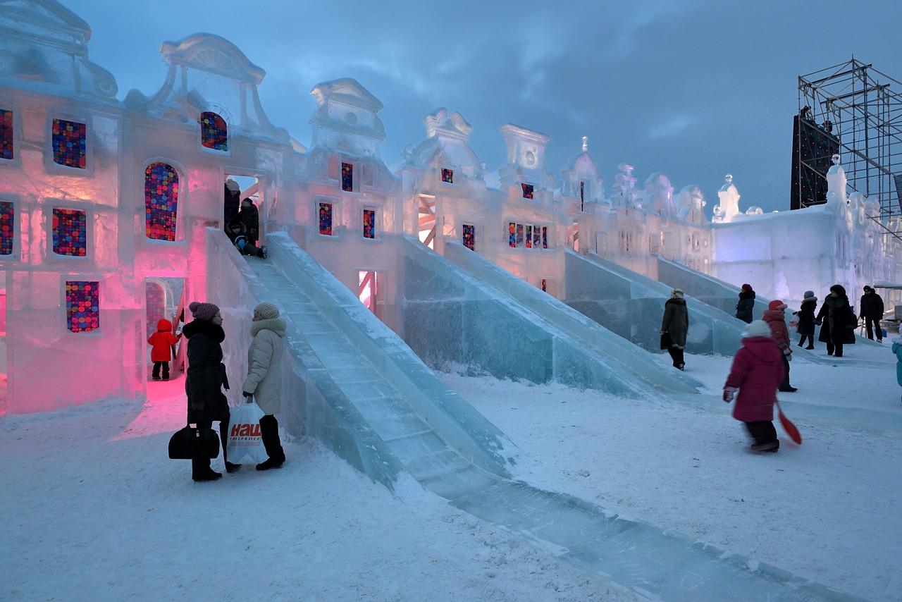 Ледовый городок в Перми, январь 2013 - 2