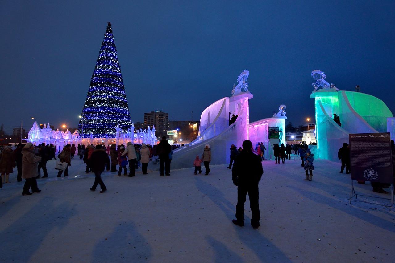 Ледовый городок в Перми, январь 2013 - 14