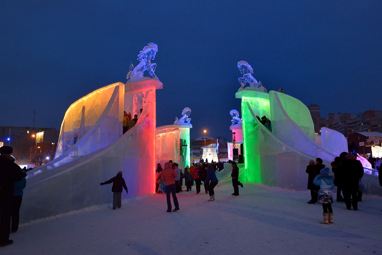 Ледовый городок в Перми, январь 2013 - 15