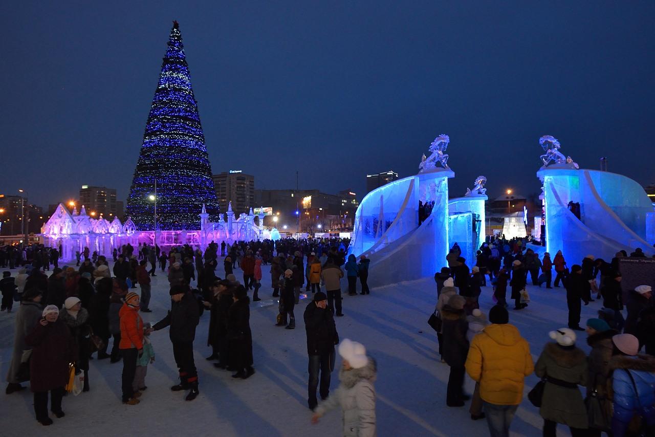 Ледовый городок в Перми, январь 2013 - 16
