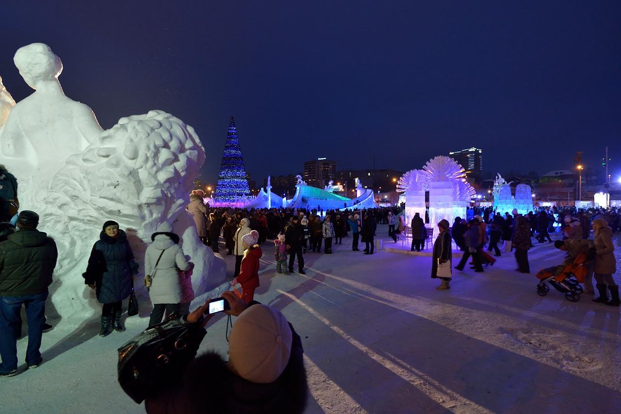 Ледовый городок в Перми, январь 2013 - 25