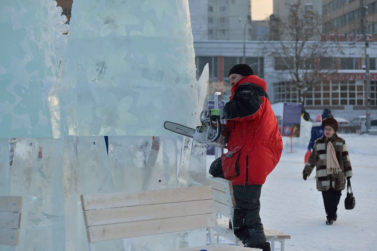 Ледовый городок в Перми, январь 2013 - 42