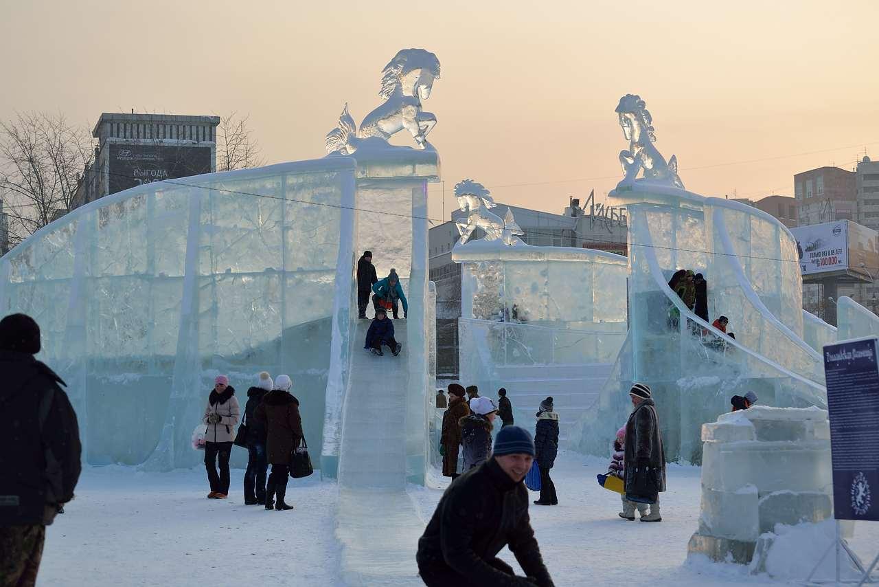 Ледовый городок в Перми, январь 2013 - 45